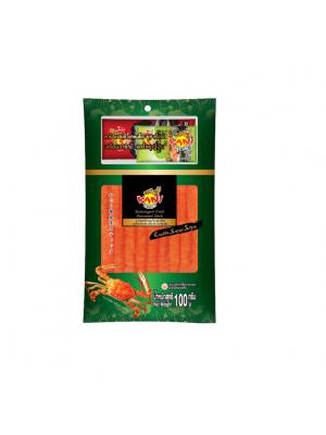 คานิ แฟมิลี่ แครปโตะ ซูชิ  100 กรัม (โซยุ+วาซาบิ)  ( ครึ่งกล่อง )