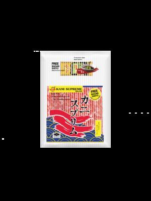 ปูอัดคานิสุพรีม500กรัม.  (ฟรี โซยุ+วาซาบิ ) ( 1 แพ็ค )