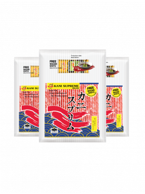 KANI SUPREME CRAB STICKS 500G.(Shoyu + Wasabi) ( 3 packs )