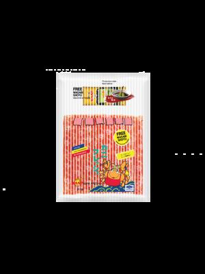 ปูอัดคานิเพรช500กรัม.  (ฟรี โซยุ+วาซาบิ) ( 1 แพ็ค )