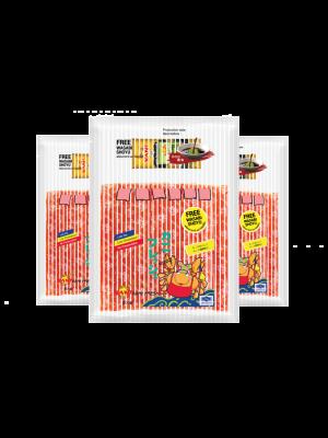 ปูอัดคานิเพรช500กรัม.  (ฟรี โซยุ+วาซาบิ) ( 3 แพ็ค )