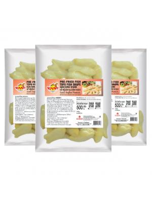 Pre-fried Fish Tofu Fish Shape  500 g . ( 3 Pack )