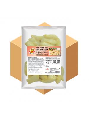 Pre-fried Fish Tofu Fish Shape  500 g . ( 1 Carton )