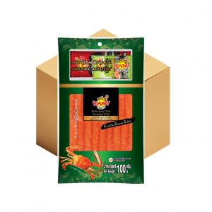 คานิ แฟมิลี่ แครปโตะ ซูชิ  100 กรัม (แถมฟรี โซยุ+วาซาบิ) ( 10 กล่อง )
